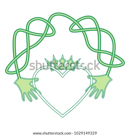 Vector Cartoon Symbol Irish Claddagh Ring Stock Vector Royalty Free