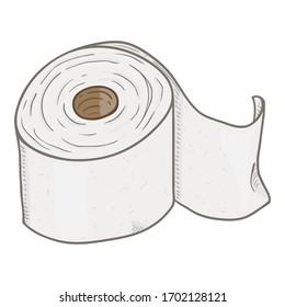 Vector Cartoon Toilet Paper Roll