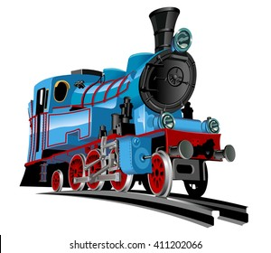 Vector Cartoon Train. Available EPS-10 vector format separated by groups for easy edit