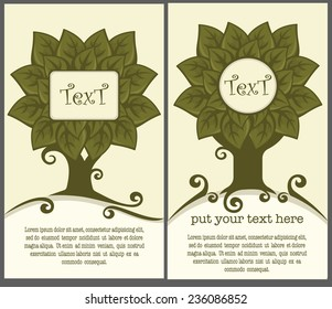 vector cartoon tree background for your text