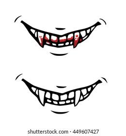 Vector cartoon vampire fangs