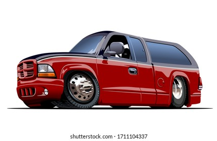 Vector Cartoon Van. Available EPS-10 vector format separated by groups and layers for easy edit