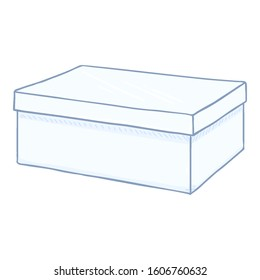 Vector Cartoon White Shoe Box