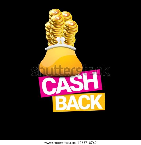 vector cash back icon coins wallet stock vector royalty free 1066718762 shutterstock