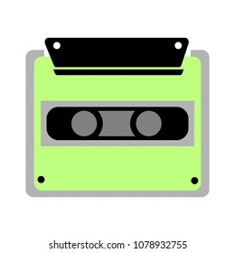 vector cassette tape illustration - retro old music media - vintage object