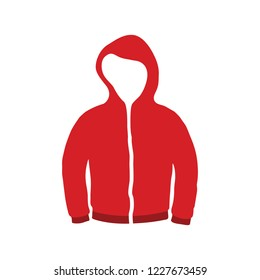 vector casual jacket illustration isolated. clothing fashion symbol