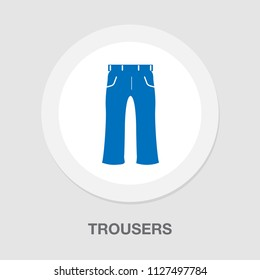 vector casual jeans trousers or pants illustration isolated. clothing fashion wear textile template