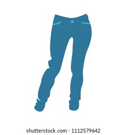 vector casual trousers template, design fashion illustration - trousers symbol, jeans pants