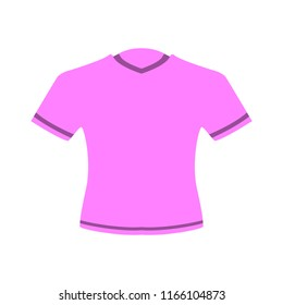 vector casual v neck shirt or t shirt illustration isolated. clothing fashion wear template