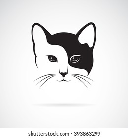 Vector of a cat face design on white background, Pet. Animals. Easy editable layered vector illustration.