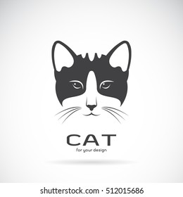 Vector of a cat face design on white background. Pet