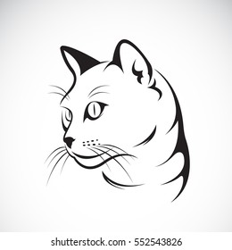 Vector of a cat face design on white background, Vector illustration. Pet
