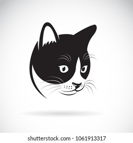 Vector of a cat head design on white background. Pet. Animal. Easy editable layered vector illustration.