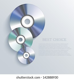 Vector cd background. Eps10