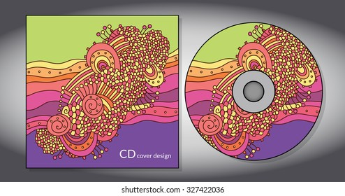 Vector cd cover design template with copy space. Vector illustration
