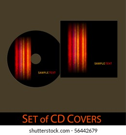 vector cd cover design template