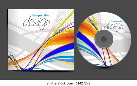 vector cd cover design template with copy space, vector illustration
