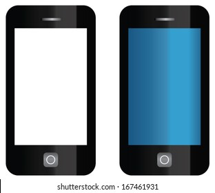 vector cell phone isolated