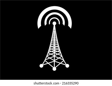 Vector cell phone tower