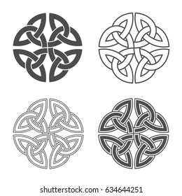Vector celtic knot. Ethnic ornament. Geometric design.