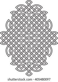 Vector celtic knot pattern