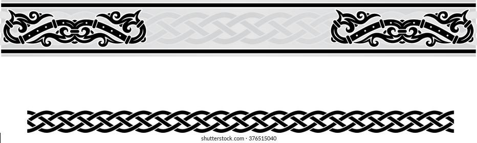 Vector celtic ornament floral frame.