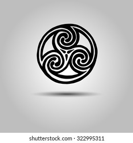 vector celtic sign design symbol element abstract knot icon tattoo
