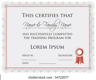 (vector) Certificate of Completion Template (a jpg is also available)