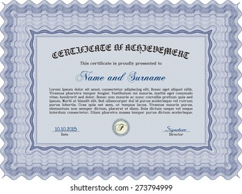 Vector certificate. Customizable, Easy to edit and change colors.