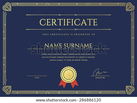 vector certificate diploma gatsby template ready stock vector