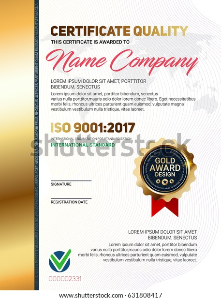 Certificate Of Quality Template from image.shutterstock.com