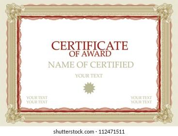 Vector certificate red