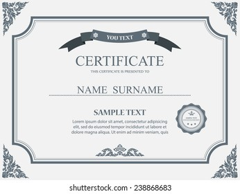 Certificate template images stock photos vectors shutterstock vector certificate template yadclub Gallery