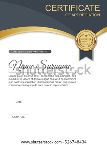 Vector Certificate Template Stock Vector Royalty Free 526748434