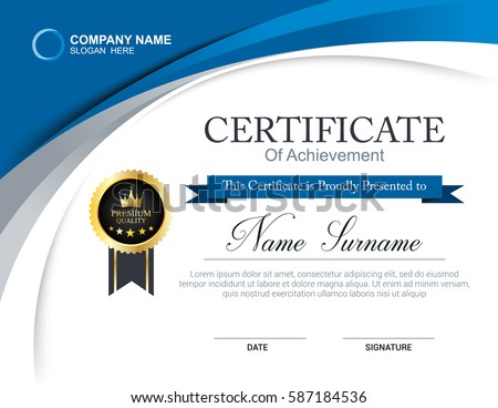 Vector Certificate Template Stock Vector Royalty Free 587184536