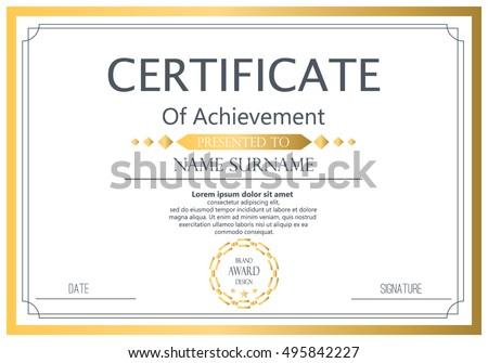 Vector Certificate Template Vector Award Graduation Image