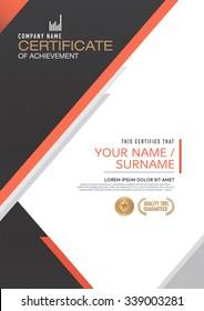 Vector certificate template. modern,luxurious, unique