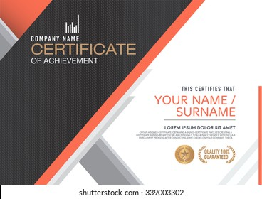Vector certificate template. modern,luxurious, unique