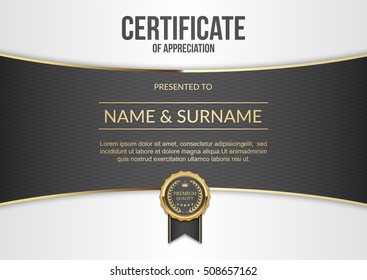 Vector certificate template size a4.