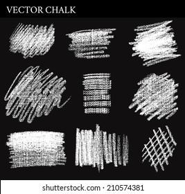 Vector Chalk Tone Value. Hand drawn illustration.