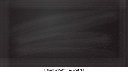 Vector chalkboard background. Blackbord tempate for chalk drowing.