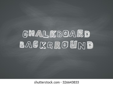 Vector chalkboard background. School blackboard texture