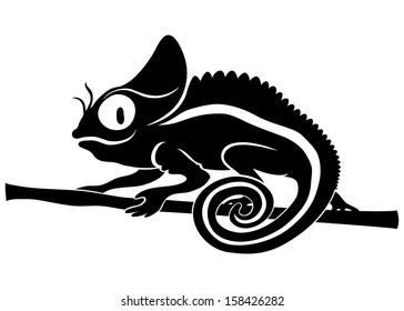 Vector. Chameleon.