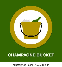 vector champagne bucket illustration, celebration icon - holiday party drink