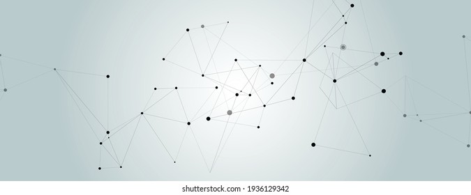 Vector chaotic black lines black on blue background.