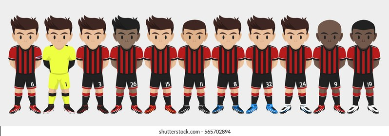 48917a1b3 Artist. Similar. Save. Vector Character Football Team