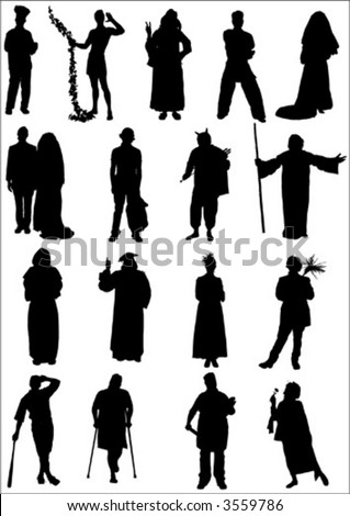 Vector Character Set Stock Vector (Royalty Free) 3559786 - Shutterstock