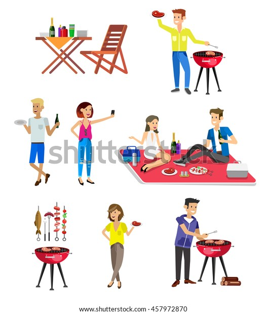 Vector Character Set People On Family Stock Vector (Royalty