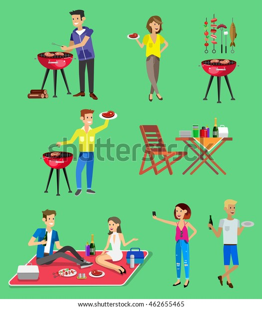 Vector Character Set People On Family Stock Vector (Royalty Free