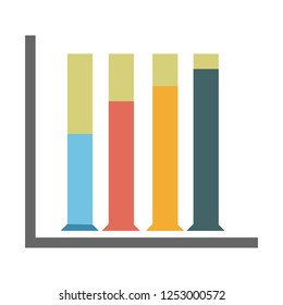 vector chart finance column illustration - business report. statistics icon. bar graph